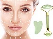 Roleri za masažu lica od rozenkvarca ili žada